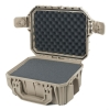 Seahorse SE-430 Waterproof Case - Tan Open Angle View